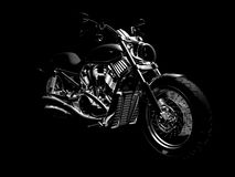 Macho Muscle Bike. A macho looking heavy bike also known as the Muscle bike, isolated on a black studio background Royalty Free Stock Photos