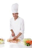 Macho nepalês atrativo do cozinheiro chefe, reunião fotografia de stock