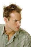 Macho novo com corte de cabelo moderno imagens de stock royalty free