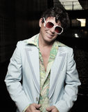 Macho retro de sorriso fotografia de stock royalty free