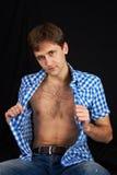 macho skjorta för ask Royaltyfria Bilder