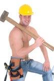 MachoBauarbeiter Lizenzfreies Stockfoto