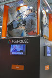 MacHOUSE company booth. At Kyiv International TV and Radio Fair 2013 in Kiev, Ukraine. It is the main business forum for professionals of Ukrainian media royalty free stock photos