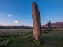 Machrie причаливает стоящие камни Стоковое Фото