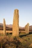 Machrie amarra el círculo de piedra en Arran en Escocia Fotografía de archivo libre de regalías