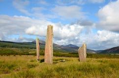 Machrie Moor, Standing Stones Royalty Free Stock Photo