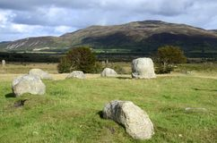 Machrie Moor, Standing Stones Royalty Free Stock Photo