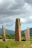 Machrie stehende Steine, Insel von Arran Lizenzfreies Stockfoto
