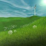 Macht die Windmolen produceert Stock Afbeeldingen