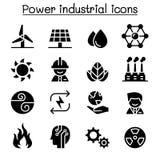 Macht & Energie industriële pictogramreeks royalty-vrije illustratie