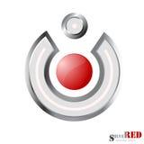 Macht, het pictogram van de volumeknoop. Vector illustratie. Stock Fotografie
