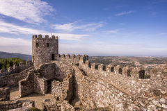 Macht Schloss in Sintra fest Lizenzfreies Stockbild