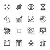 Macht, Snelheid, Grafiek, Sprint, het Pak van Lijnvectoren stock illustratie