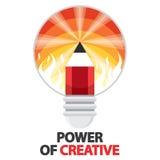 Macht van creatief Stock Foto's