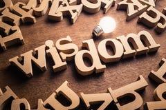 Macht van wijsheid stock foto's
