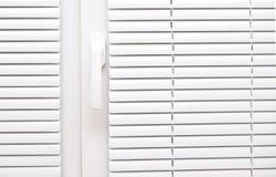 macht Weiß für Fenster blind Stockbild