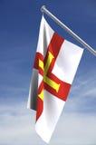 Machtbereich der Guernsey-Markierungsfahne Lizenzfreies Stockbild