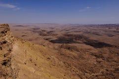 """Machtesh Ramon †de """"krater van Ramon, birdseye mening Stock Afbeelding"""