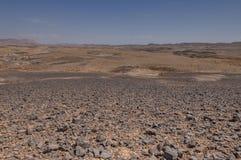 Machtesh Ramon †'Ramon krater, pojawienie teren Obraz Royalty Free