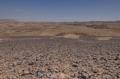 Machtesh Ramon – the Ramon crater,  appearance of the terrain. Royalty Free Stock Image