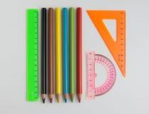 Machthaber und Bleistifte Lizenzfreie Stockbilder