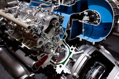 Machtige innovatieve motor van een auto Royalty-vrije Stock Foto