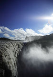 Machtige waterval Dettifoss royalty-vrije stock foto