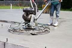 Machts Concrete Afwerker Stock Foto's