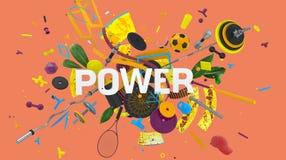 Machts kleurrijke kaart Stock Afbeeldingen