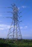 Machtslijnen met hoog voltage royalty-vrije stock afbeeldingen