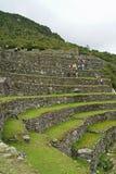 machu秘鲁picchu大阳台 免版税图库摄影