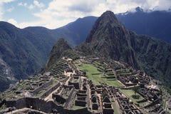 machu秘鲁picchu废墟 免版税库存照片