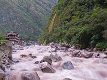 machu秘鲁picchu河urubamba 免版税库存图片