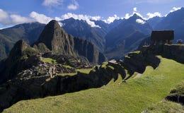 machu秘鲁picchu视图 免版税库存照片