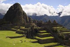 machu秘鲁picchu视图 图库摄影