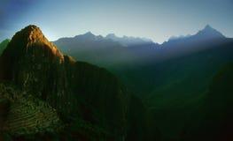machu秘鲁pichu周围 免版税库存照片