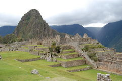 Machu de niebla Picchu Fotos de archivo