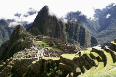 Machu majestoso Picchu visto do oeste sul imagem de stock royalty free