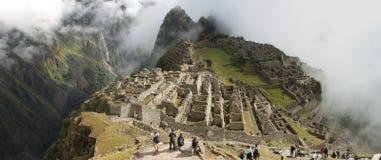 Machu panoramische Picchu Royalty-vrije Stock Afbeeldingen