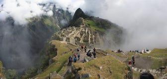 Machu panoramische Picchu Stock Afbeelding