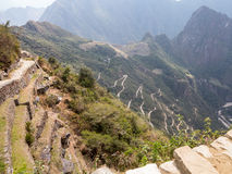 Machu Picchu在秘鲁的Cusco地区 免版税库存图片