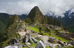 Machu Picchu在秘鲁 免版税图库摄影