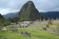 Machu Picchu废墟在秘鲁 库存照片