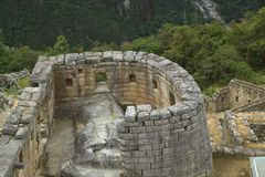 Machu Picchu废墟在秘鲁 图库摄影