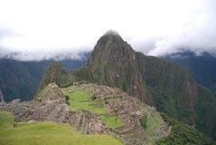 Machu Picchu秘鲁全视图  免版税库存照片