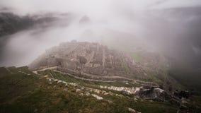 machu picchu著名印加人废墟在秘鲁 图库摄影