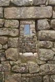 Machu Picchu视窗 免版税库存照片