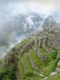 Machu Picchu跨步的大阳台在秘鲁 免版税库存图片
