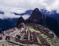 Machu Picchu,秘鲁废墟  免版税库存图片
