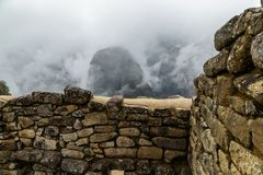 Machu Picchu, αρχαία archeological περιοχή, Περού Στοκ Φωτογραφία